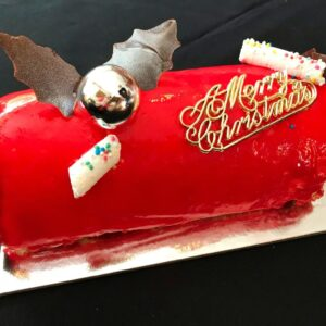 ruby christmas log